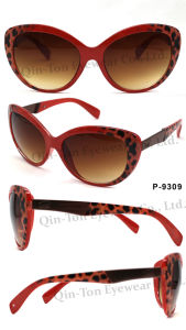 Fashion Plastic Sunglasses with 100% UV Protection (P-9309)