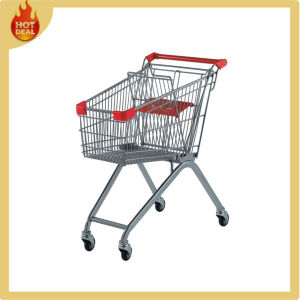 Cheap Supermarket Steel Shopping Cart for Seniors pictures & photos