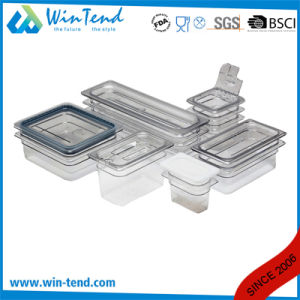 Hot Sale BPA Free Certificate Transparent Plastic Restaurant Kitchen 1/6 Size Gastronorm Tray pictures & photos