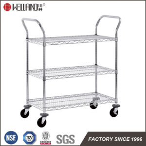 Adjustable Heavy Duty Chrome Metal Storage Wire Shelving Trolley, NSF Approval pictures & photos