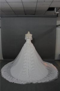 OEM China Wholesale off Shoulder Lace Beading Bridal Gown Wedding Dress 2017 pictures & photos