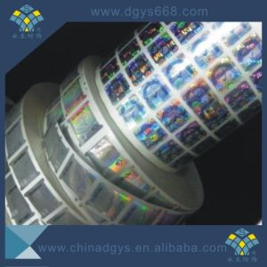 Custom High Quality Security Laser Hologram Self-Adhesive Sticker in Roll pictures & photos