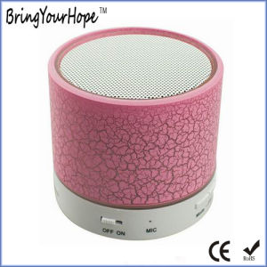 A9 LED Flash Luminous Crack Plastic Mini Bluetooth Speaker (XH-PS-656) pictures & photos