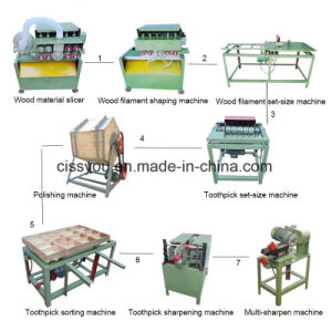 Automatic Bamboo Toothpick Production Line Making Splitting Machine pictures & photos