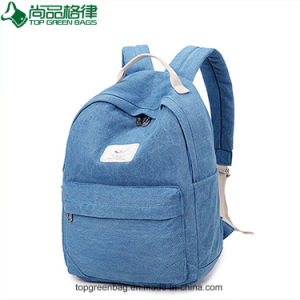 Wholesale New Trendy Canvas Jeans Backpack Custom Canvas Backpack Bag pictures & photos