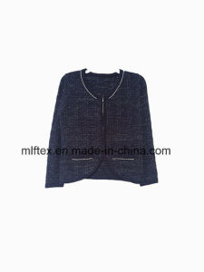 V-Neck Short Knitting Clothing for Women pictures & photos