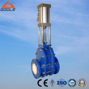Pneumatic Ceramic Double-Disc Gate Valve (GZT644TC) pictures & photos