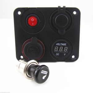 Marine Toggle Switch Panel Cigarette Lighter pictures & photos