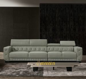 High Quality Modern Hotel Furniture Leather Sofa (L073) pictures & photos