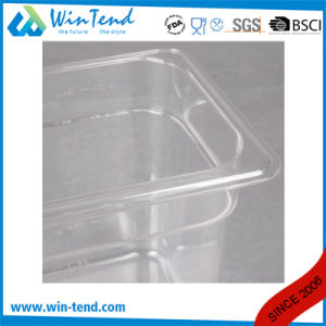 Hot Sale Certificate BPA Free Restaurant Kitchen Transparent Plastic 1/9 Size Dripping Tray pictures & photos