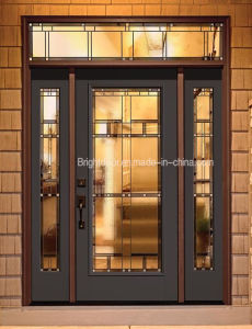Modern Style Tinted Glass Swing Walnut Wood Door for Home pictures & photos