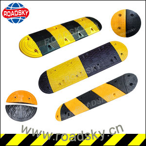 Factory Price Street Safety Reflective Rubber Speed Bump pictures & photos