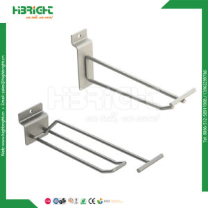 Chromed Double Lines Metal Pegboard Display Hooks pictures & photos