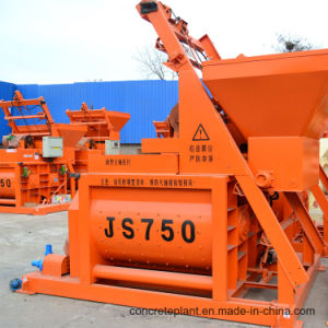 Horizontal Double Shaft Concrete Mixer Machine for Construction Site pictures & photos