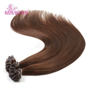 Nail Tip Natural Indian Keratin Human Hair Extension pictures & photos