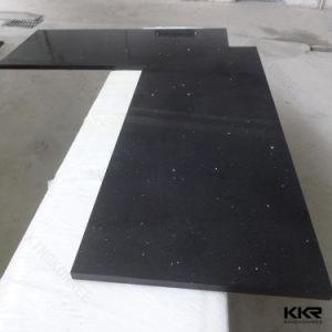 """Sparkle Black 3/4"""" Thick Quartz Stone for Kitchen Tops (C170808) pictures & photos"""