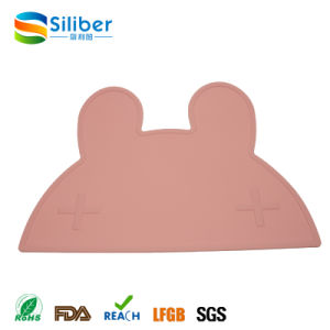Beautiful Rabbit Silicone Placemat and Tray for Babies and Kids pictures & photos
