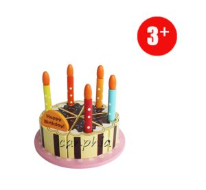 Wooden Children Toy Educational Pretend Play Cake Playset DIY Toy pictures & photos
