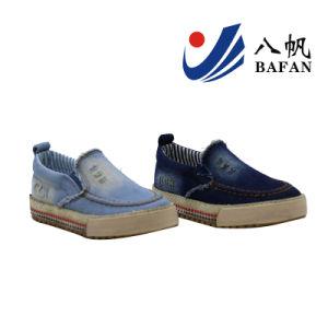 Fashion Broken Denim Upper Kids Canvas Shoes Bf161058 pictures & photos