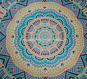 Wholesale Heat Transfer Printed Meditation Custom Round Yoga Mat pictures & photos