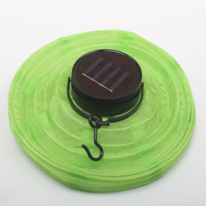 Colorful Chinese Globe Nylon Hanging Solar Lantern pictures & photos