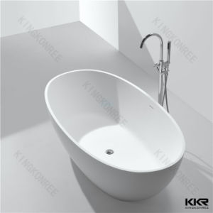Modern Style Artificial Stone Solid Surface Oval Freestanding Bathtub pictures & photos