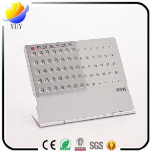 Creative Stationery Mini-Type Ultra-Thin Fine Desktop Personality Alendar / Metal English Alendar/Aluminum Desk Alendar pictures & photos