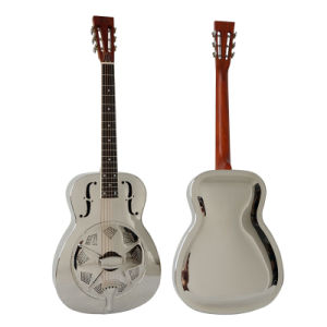 OEM Factory Price Acoustic Brass Metal Body Resonator Guitar for Sale pictures & photos