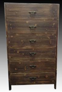 Antique Finish Indoor Furniture Wooden Cabinet Clocker