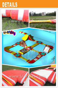 Yellow and red Infaltbale float Water Park pictures & photos