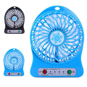 3.7V 18650 Lithium Battery Rechargeable Portable Air Cooler Mini Fan pictures & photos