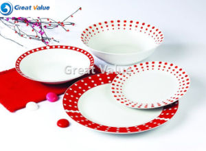 19PCS Round Porcelain White Dinner Plates pictures & photos