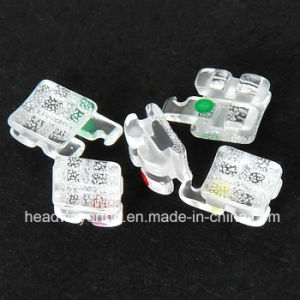 Hot Sale Orthodontic Sapphire Ceramic Bracket with Ce & FDA pictures & photos
