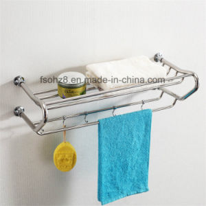 Top Grade Bathroom Towel Shelf Rack with Movable Hooks (817) pictures & photos