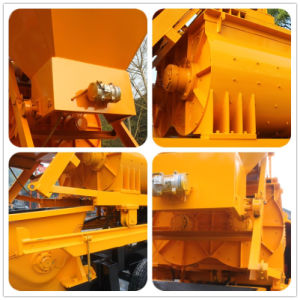 Pully Manufacture Portable Mini Trailer Concrete Pump with Twin-Shaft Mixer (JBT40) pictures & photos