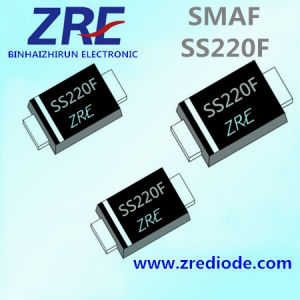 2A Ss22f Thru Ss220f Schottky Barrier Rectifier Diode Smaf Package pictures & photos