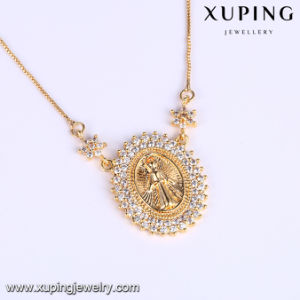 43896 Fashion Hot Sales 18k Gold Zirconia Maria Jewelry Necklace pictures & photos