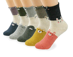 Custom Fashionable Cute Rabbit Jacquard Sock in Various Designs and Sizes pictures & photos