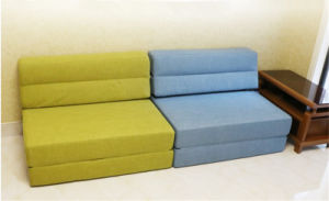Comfortable Linen Fabric 3 Seater Sofa Bed 195*100cm pictures & photos