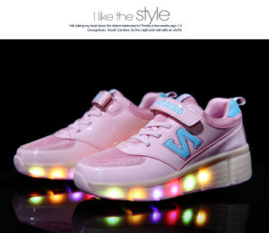 Roller Shoes for Child, Kids LED Flash Shoes, Shiny Shoes for Kids pictures & photos