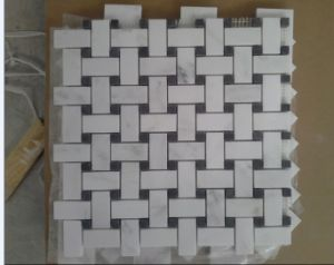 Mini Brick White Marble Mosaic for Floor and Wall pictures & photos