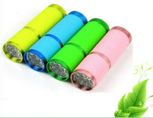 9 LED Flashlight with Rubber Coat pictures & photos