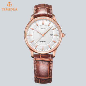 Casual Stainless Steel Ladies Watches Women with Ronda Quartz Day Calendar Movement 71024 pictures & photos