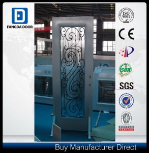 Fangda Glass Shower Steel Door, with Decorative Wrought Iron Glass pictures & photos