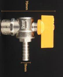 Single Silk Angle Type Brass Gas Valve pictures & photos