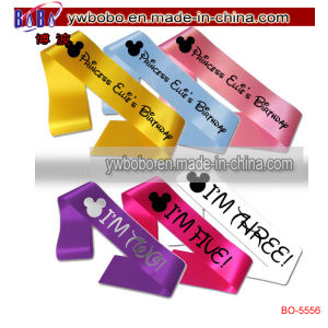 Girls Personalised Princess Birthday Sash Gift Party Banner (BO-5556) pictures & photos