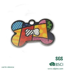Custom Metal Bone Shape Printing Logo Keychain Tag pictures & photos