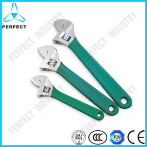 Metric High Carbon Steel Chrome Plated Adjustable Spanner pictures & photos
