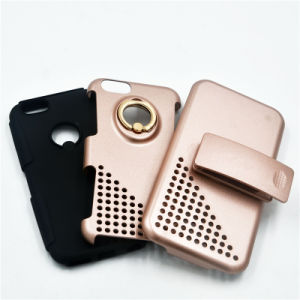 Hybird 3 In1 Armor Stand Phone Cases for iPhone 7/7plus Case with Belt Clip and Ring Holder (XSSH -004) pictures & photos