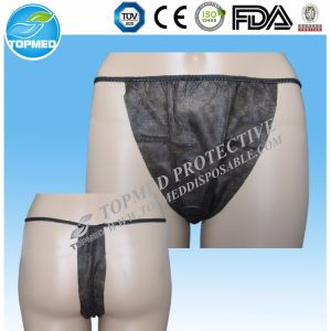 Nonwoven Spunlace Soft Tanga, Disposable Adults Tanga for Beauty Salon pictures & photos